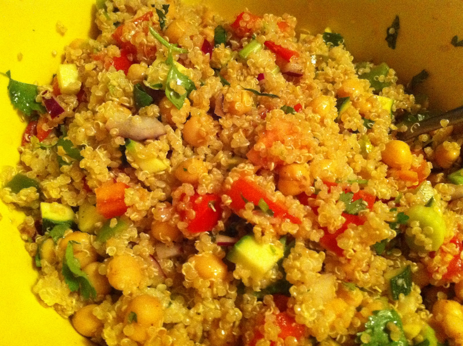 ... : recipes from the Satellite of Love: Quinoa Garbanzo Bean Taco Salad