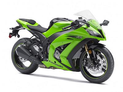 2011 Kawasaki Ninja ZX10R lime green