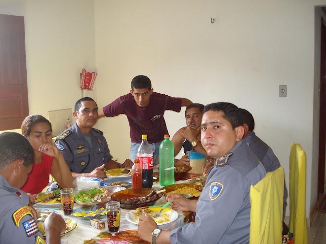Almoço de Confraternização na res. do Cb Daniel em São Bento