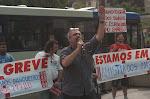 Bancários em greve: manifestação na Av. Paulista