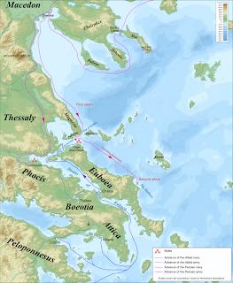 La Bataille de Thermopyles. Thermopylae_%26_Artemisium_campaign_map