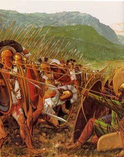La Bataille de Thermopyles. Thermopyles