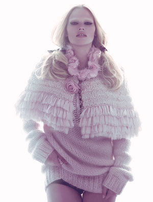 Fashion´s It Girl – Lara Stone for W Magazine August 2009 by Steven Meisel
