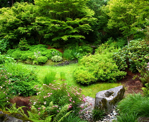 Seattle Urban Landscape Yao Japanese Garden At The