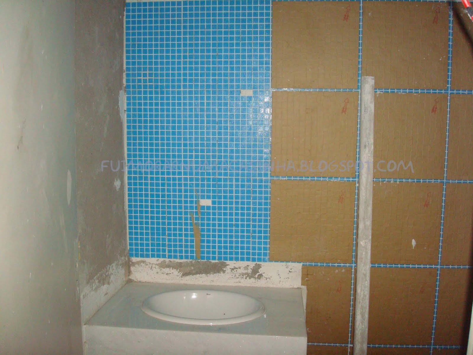 decora o de banheiros com pastilha de vidro #307B9B 1600x1200 Banheiro Com Pastilhas Fotos
