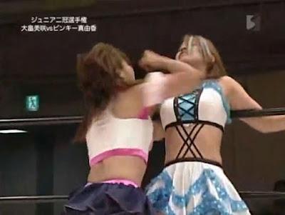 Misaki Ohata - Pinky Mayuka - femalewrestling