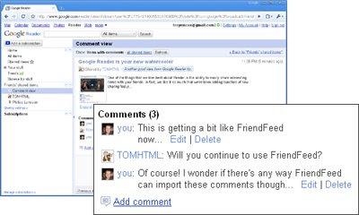 Google reader comment