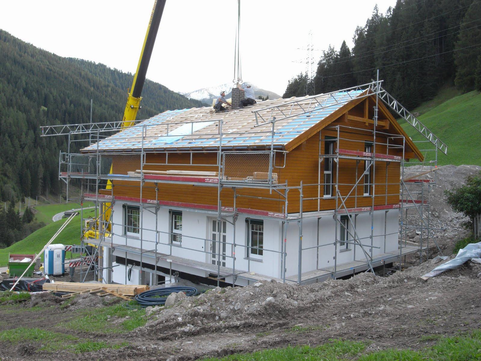 Bautagebuch chalet davos elk bau unser traumhaus steht for Chalet haus bauen
