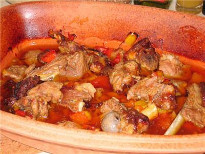 Сладкий болгарский перец с бараниной