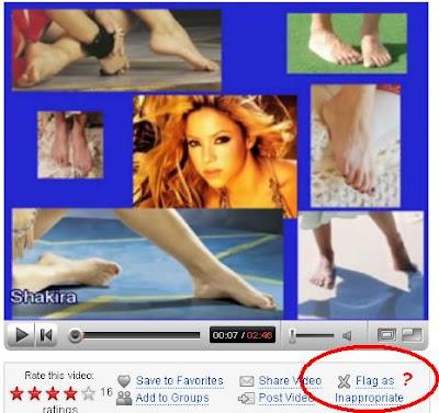 shakira feet photo