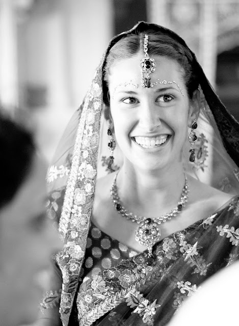 Close up of Hindu bride