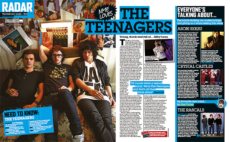 The following two feature articles are from NME and Kerrang,