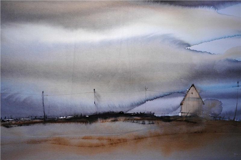Akvarell Av Bj 246 Rn Bernstr 246 M Akvareller
