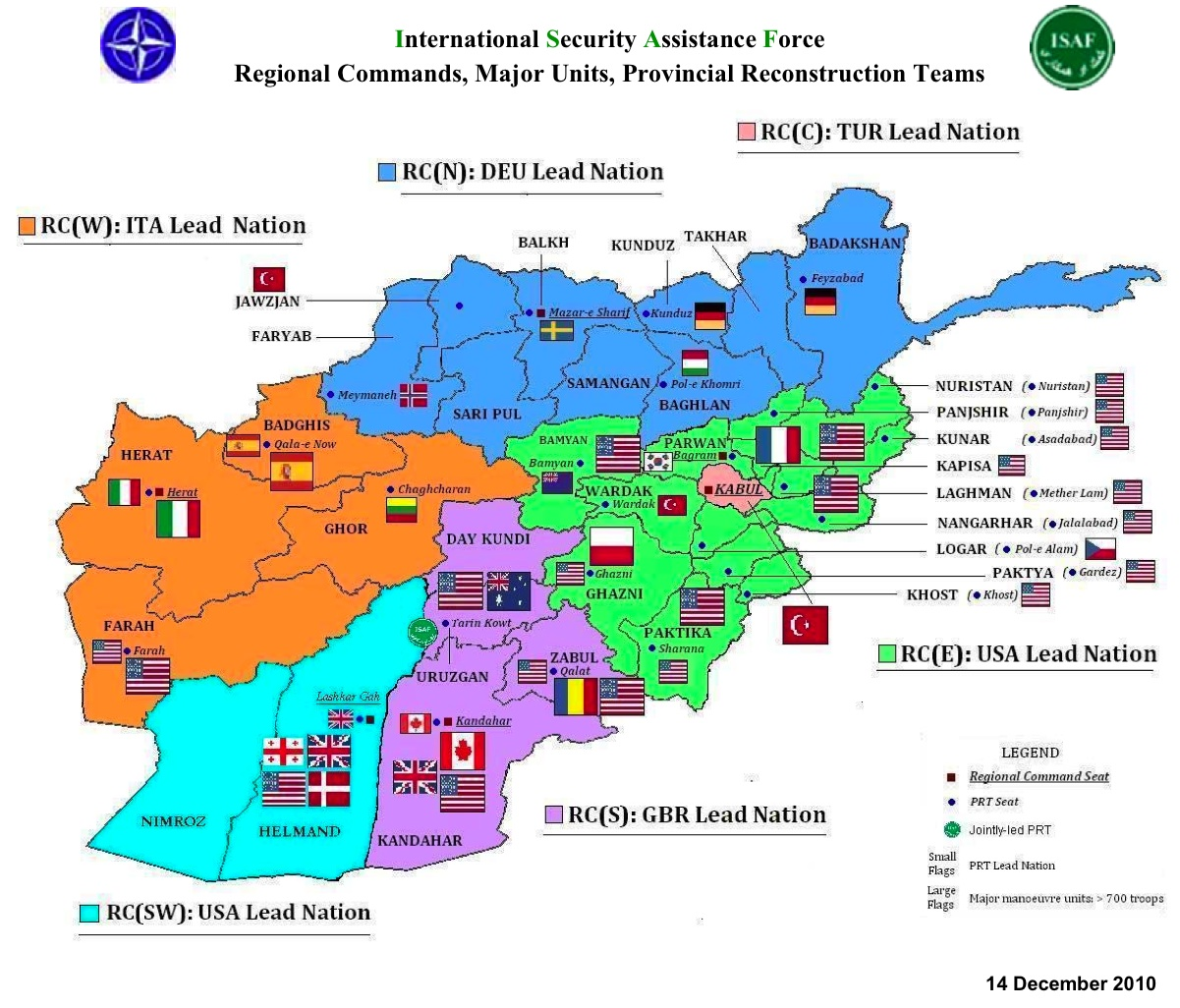 here s the current placemat for isaf forces effective 14 dec 10