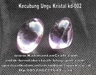 Batu Permata Kecubung Ungu Kristal
