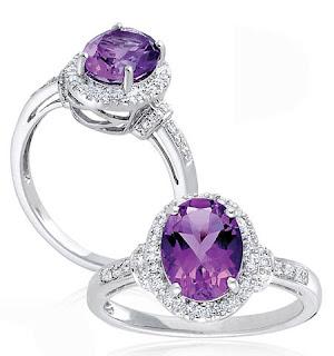 cincin permata kecubung ungu