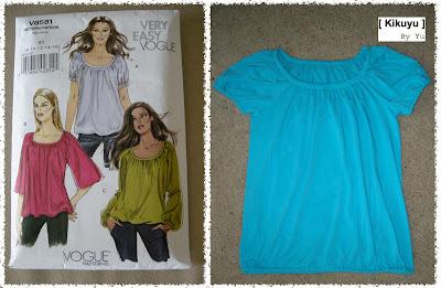 Couture  Tshirt patron Vogue 8581