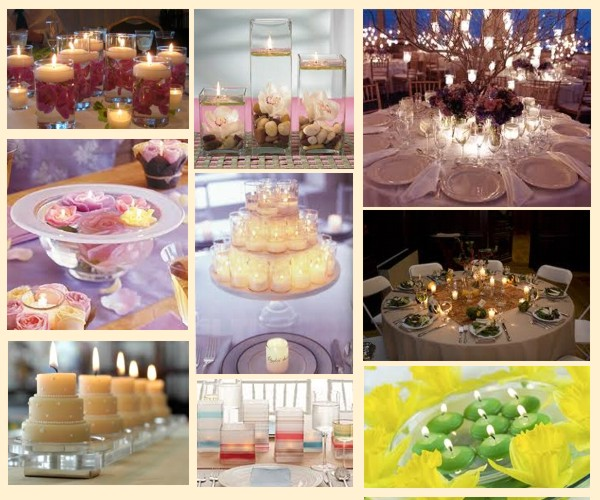 Here 39s to our first centerpiece mix ideas Candles Palette Mix