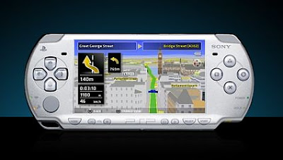 Sony bigwig GPS enabled PSP game snapshot