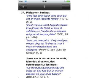 Dictionnaire Littré 1.0 pour iphone