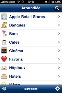 Trouver des hôtels, magasins, restaurants sur iPhone « AroundMe »