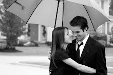 Engagement Picture.  In the rain.