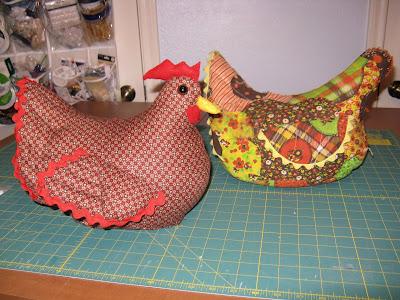 Susan sews chicken doorstop - Chicken doorstops ...