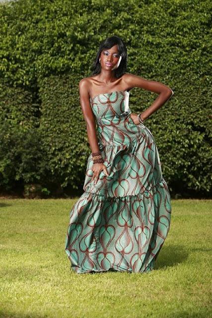 n'kya designs, wax print gown, african fashion