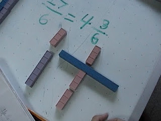 reduce fractions, base ten blocks,