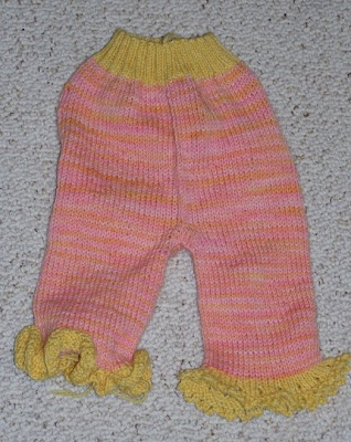 photo of knitted longies