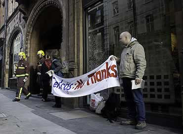 Centros protest in London