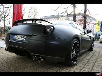 Matte black Ferrari 599 GTB rear
