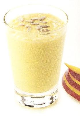 batido de mango y leche de soja
