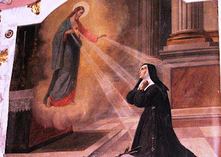 St margaret mary alacoque with Jesus
