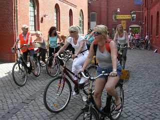 Cycling the Berlin Wall. Photograph by Janie Robinson, Travel Writer