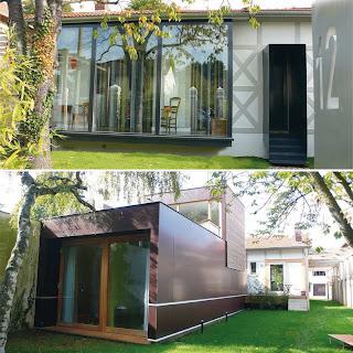 derri res les buissons maison vinolo par fabienne bulle architecte. Black Bedroom Furniture Sets. Home Design Ideas
