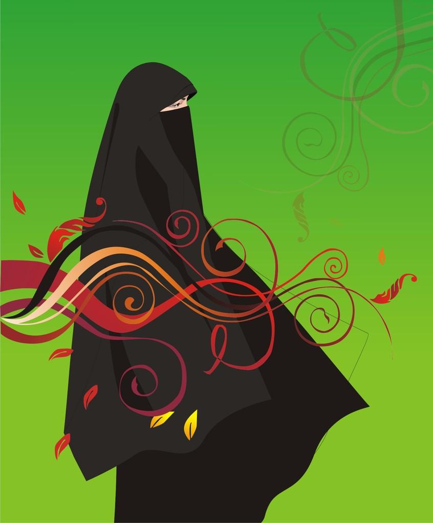 Foto Kartun Muslimah Pakai Cadar Top Gambar