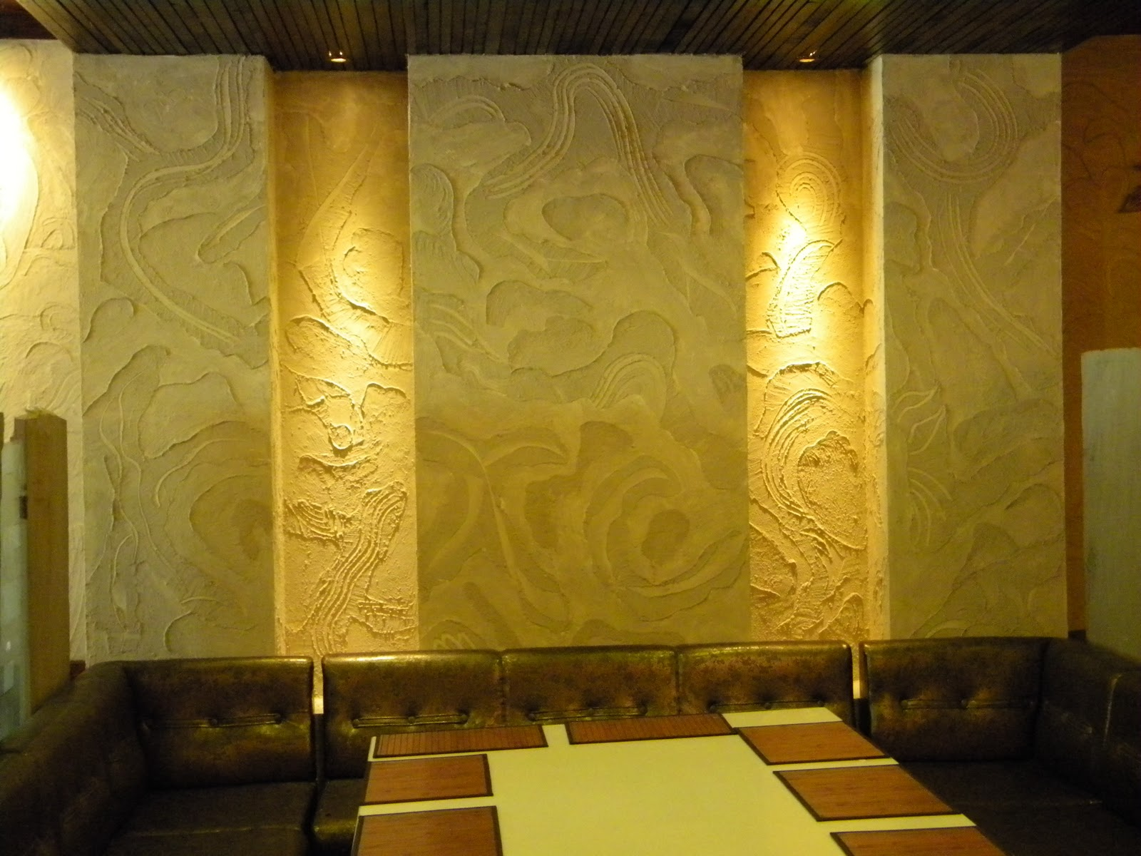 Bharat Gupta: Wall texture at Kitchen Krafft Restaurant and Coffee ...