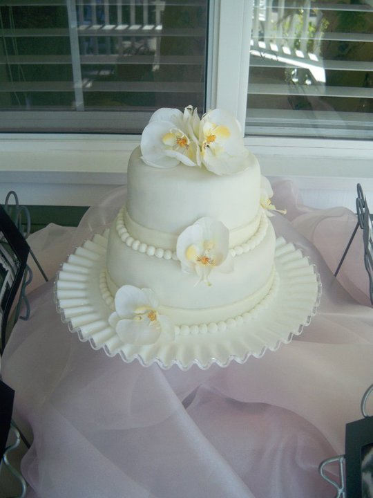Melinda Makes Cake: Orchid Wedding Cake