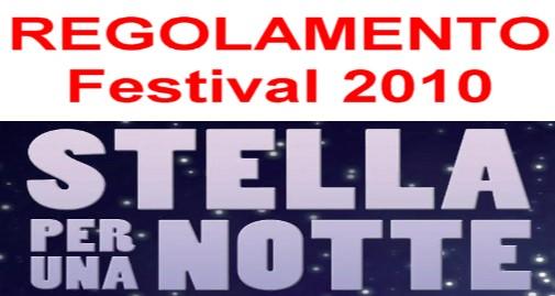 Regolamento Festival 2010