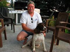 My hubby & dog