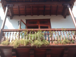 Balcón colonial en Cartagena