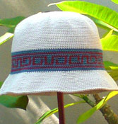 Crochet hat pattern with hatband motif