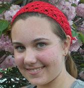Crochet headband, bandana-style pattern