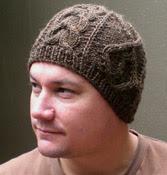 Aran-style knit beanie pattern