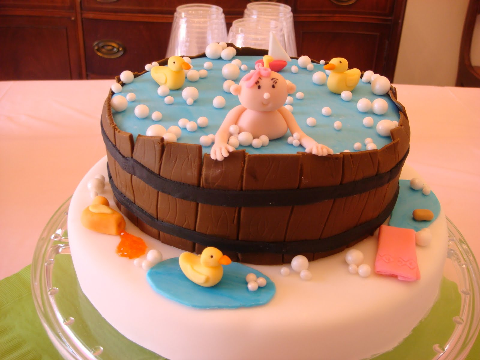 Baby shower cake for a darling little girl! : )
