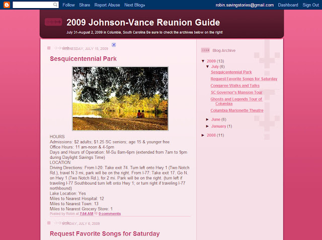 Family Reunion Web Site Sites Help Inform