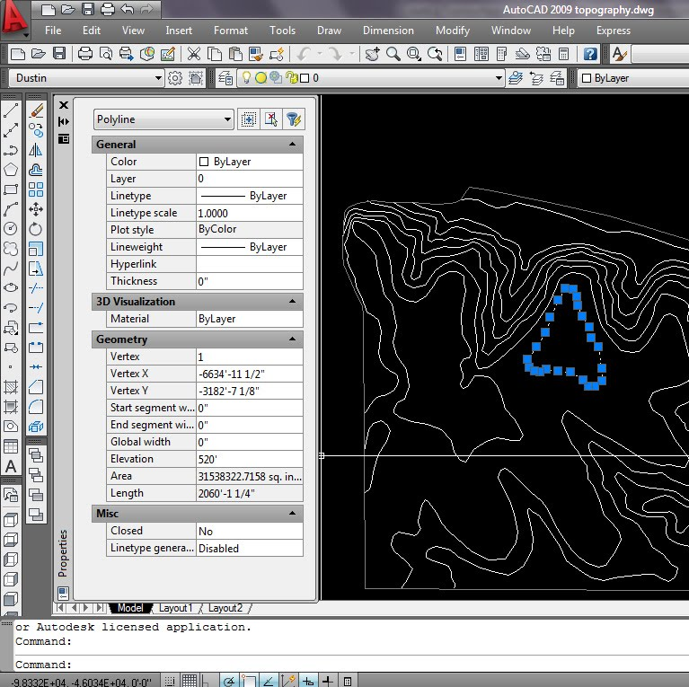 Contour Line Drawing Autocad : Autocad convert polyline to line download free utorrentson