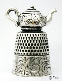 Sterling Teapot Thimble