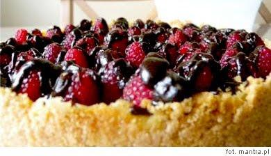 Wegetariańskie ciasta: Ciasto budyniowe z malinami